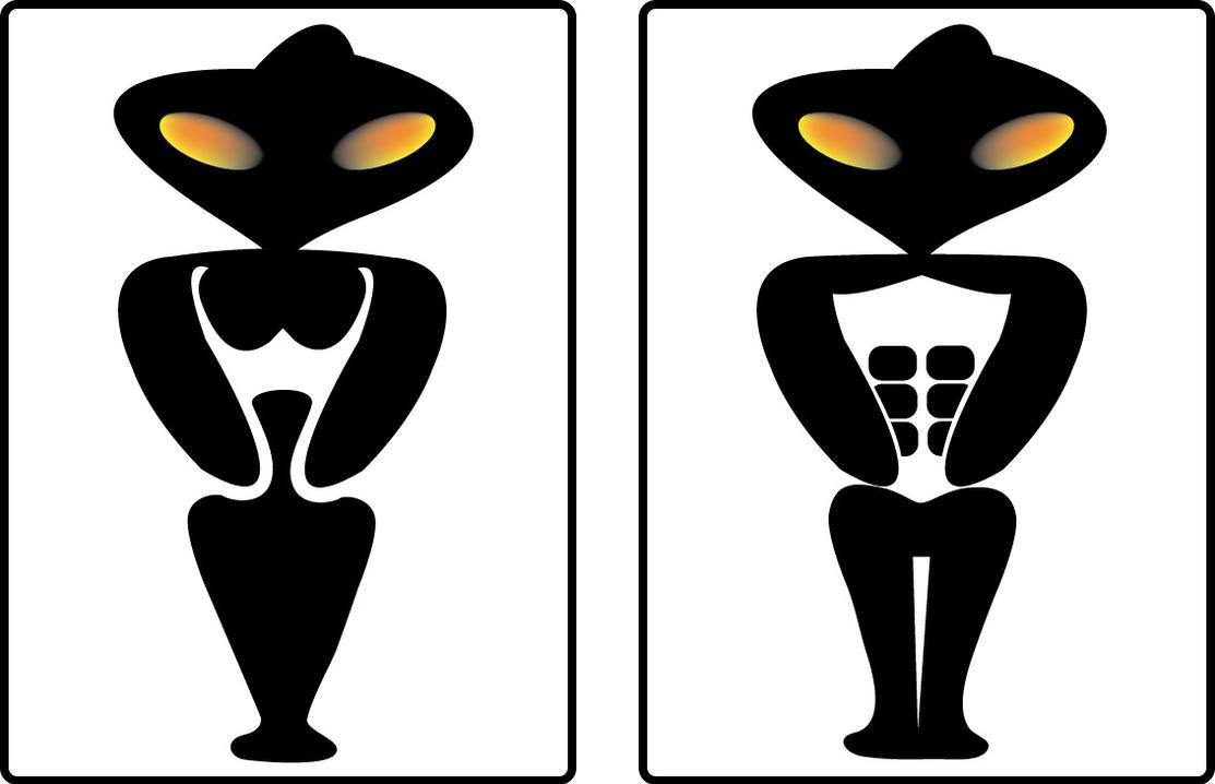 Toilet Signs Alien By Blueygh2 On DeviantArt