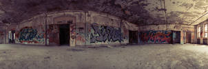360 Panorama of Room in Abandoned Building