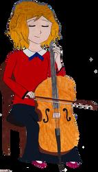 Serena as a Cellist by HAKDurbin