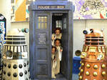 Leias in the Tardis by glittersweet