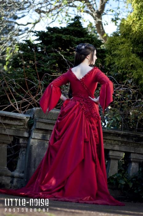 Mina Absinthe Gown back by glittersweet