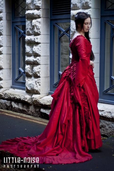 Mina Absinthe Gown side by glittersweet