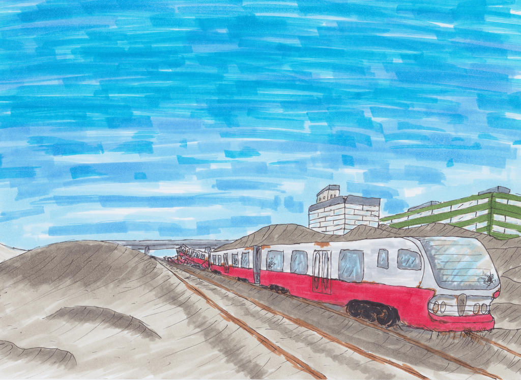 Desert Train by Raeffi