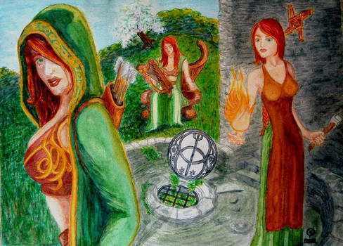 Brigid - Goddess in 3 Aspects