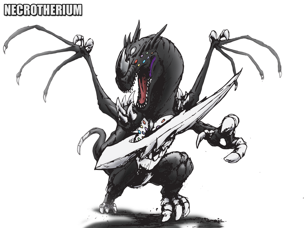 Necrotherium for ~Daizua123 by kaijugroupie84