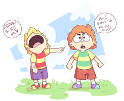 Young Lucas and Claus by URAdoodlelover2