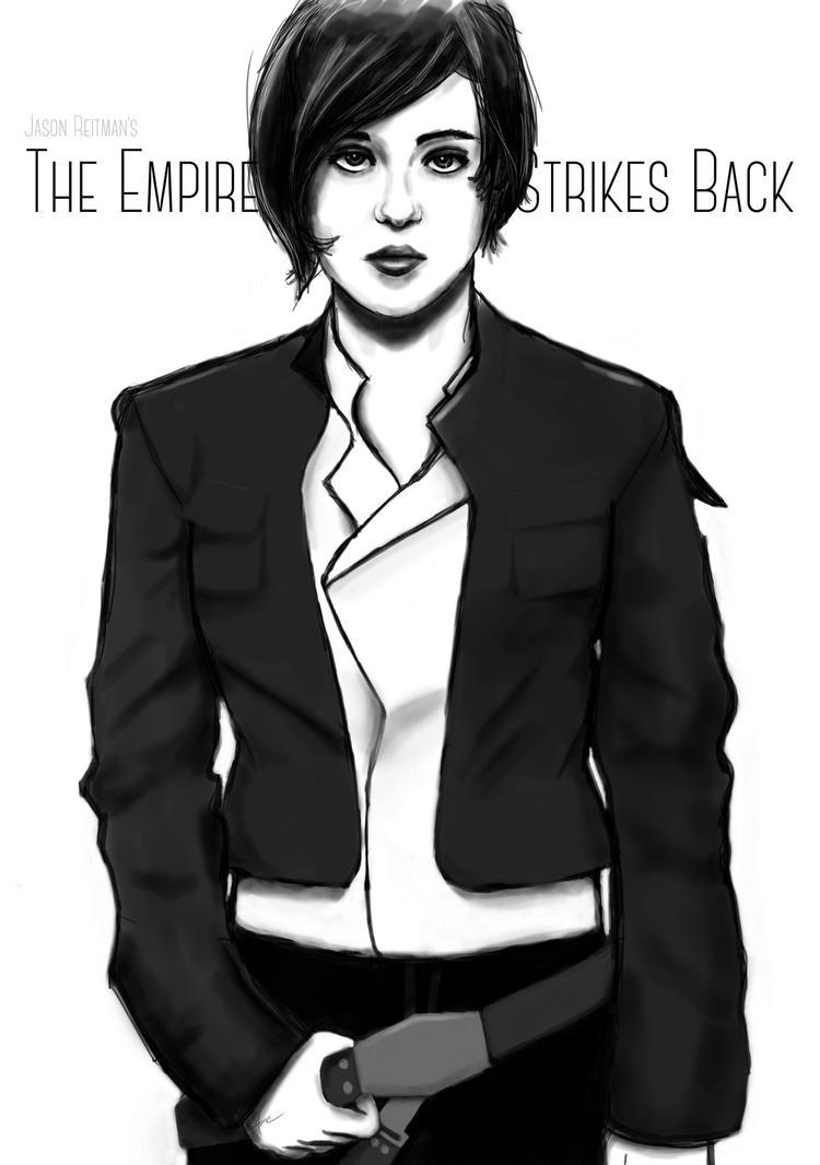 Ellen Page as Han Solo by Archymedius