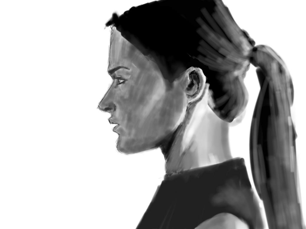 Profile - iPad Sketch by Archymedius