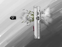 Bullet Bill through Game Boy by Archymedius