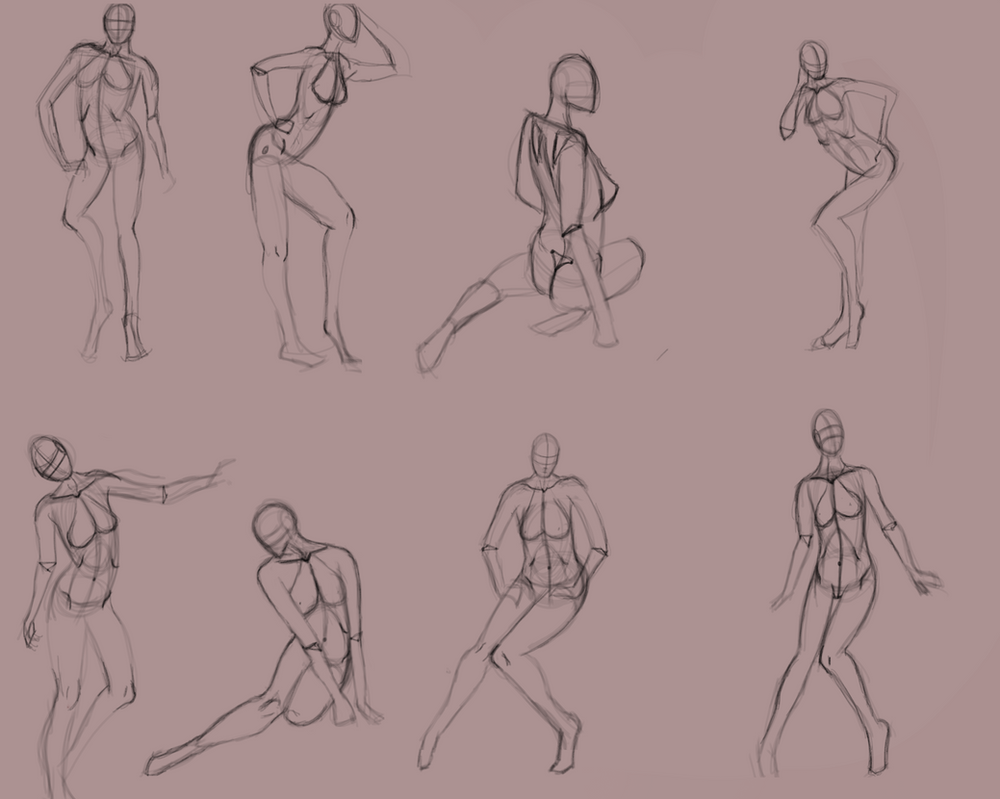 Figure Drawing Practice by FirelightDesign on DeviantArt