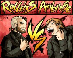 Rollins vs Ambrose by suicidalassassin