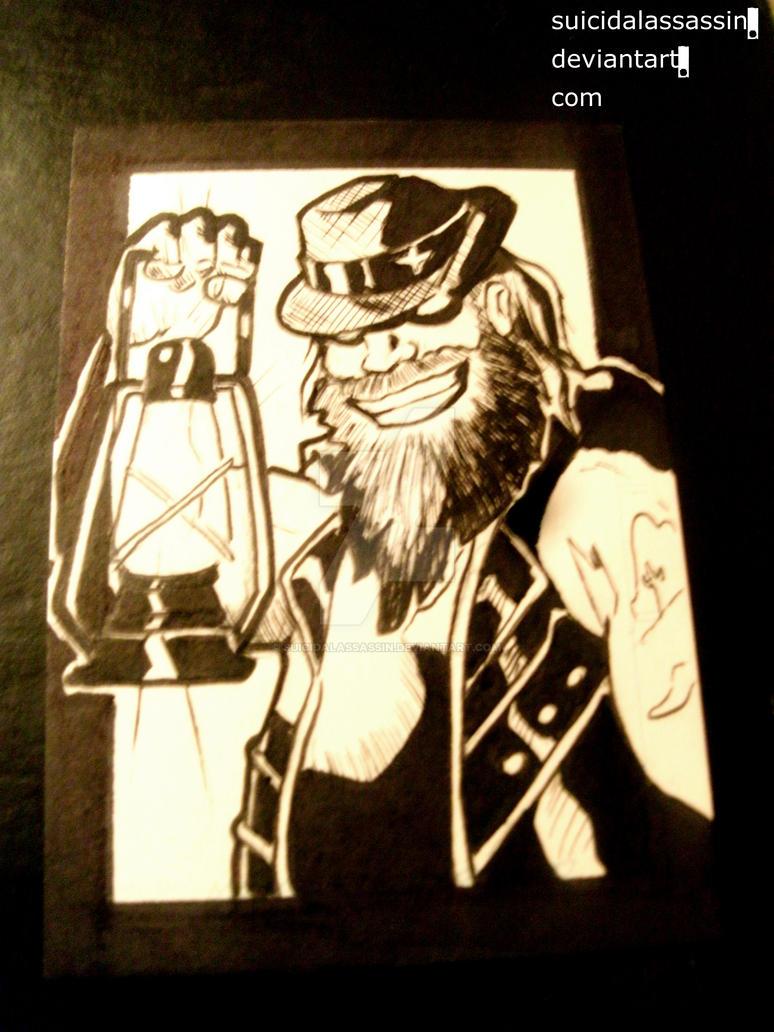 Inktober entry 7: Bray Wyatt by suicidalassassin