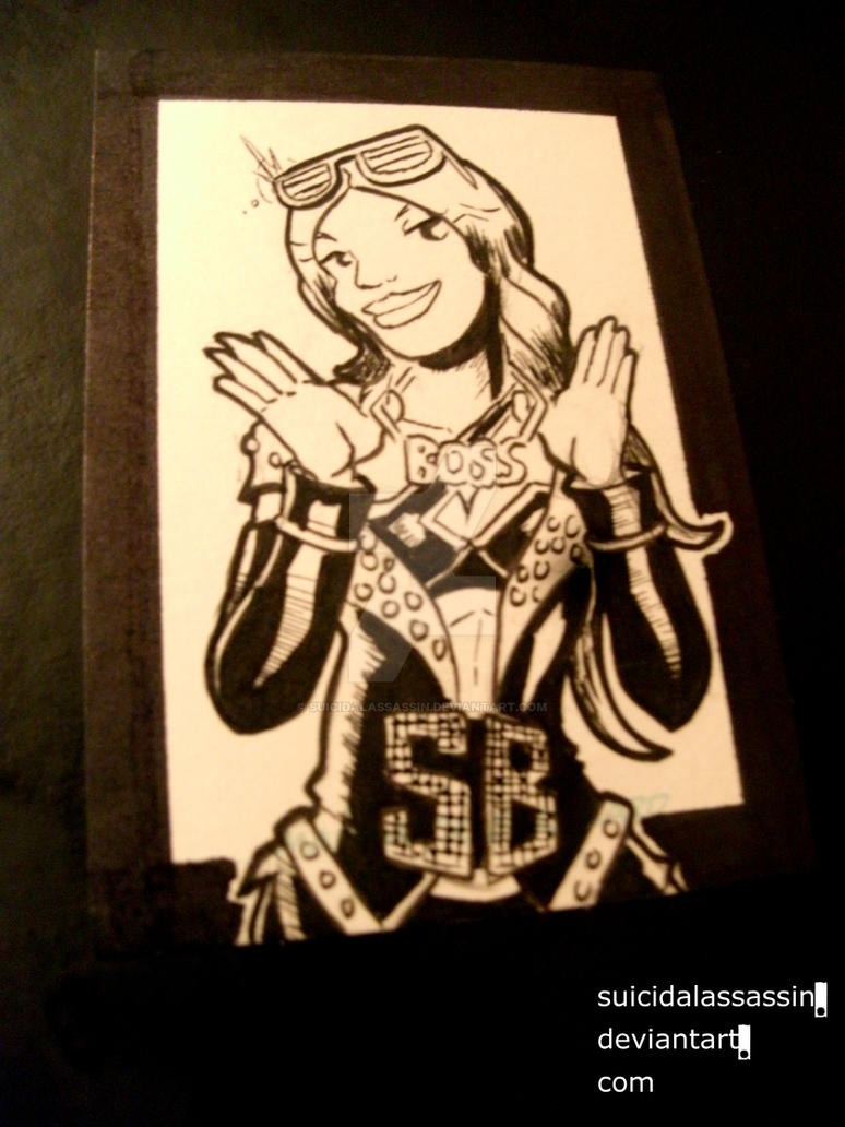 Inktober entry 8: Sasha Banks by suicidalassassin