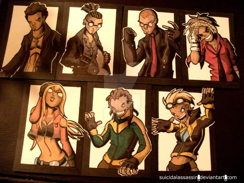 Rival Heroes Sketch Cards: Vol. 5 by suicidalassassin