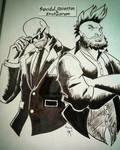 Inktober '16 entry 3: Cesaro and Sheamus