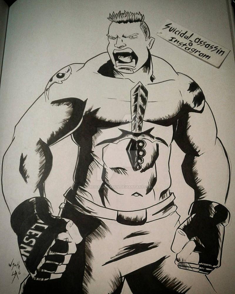 INKTOBER entry 19: Lesnar by suicidalassassin