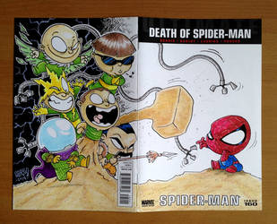 blank cover commission. spidey vs sinister six by freetoons
