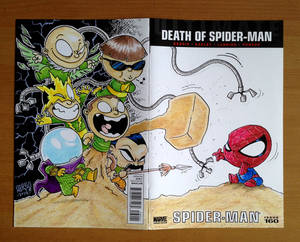 blank cover commission. spidey vs sinister six