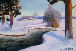 Winter landscape by AgataHandzel