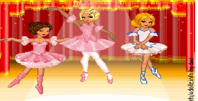 ballerina curse! pixle doll set by Magicponixtutu