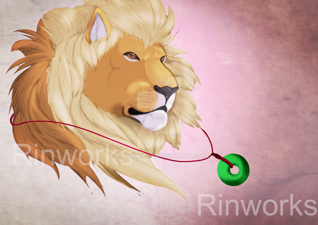 Lion Relaxing by Rinworks