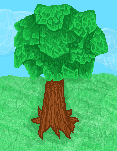 Pixel Tree by AquaDewRose