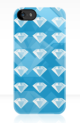 Diamond iPhone Case by AquaDewRose