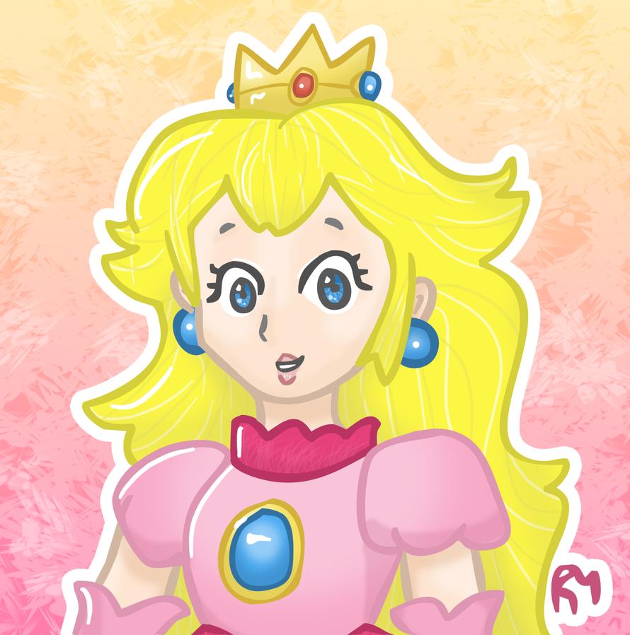 Princess Peach by AquaDewRose