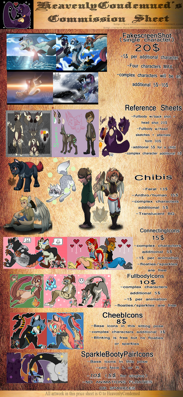 Commission info 2014 by HeavenlyCondemned