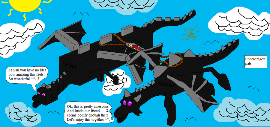 minecraft meets real life enderdragon by
