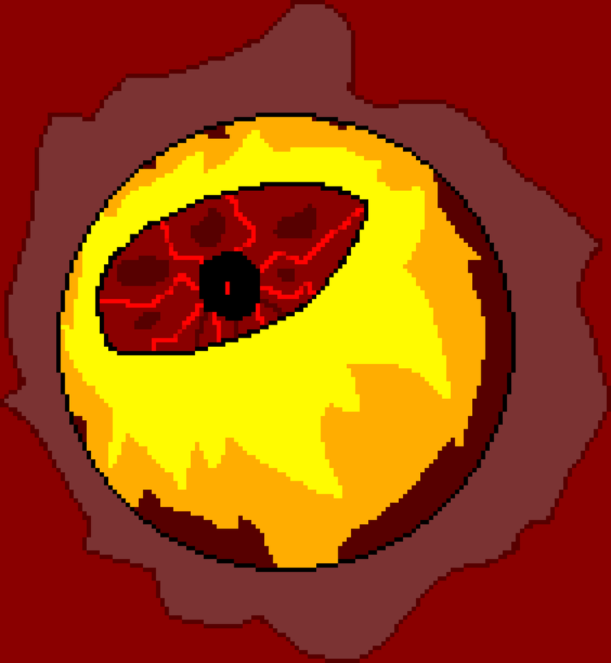 Giant fire-eyeball by NevaraTalos