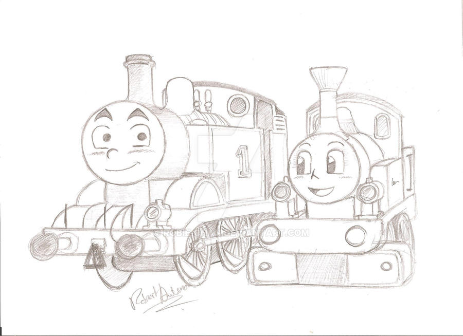 Request: Thomas and Lady by Robie-Chan on DeviantArt