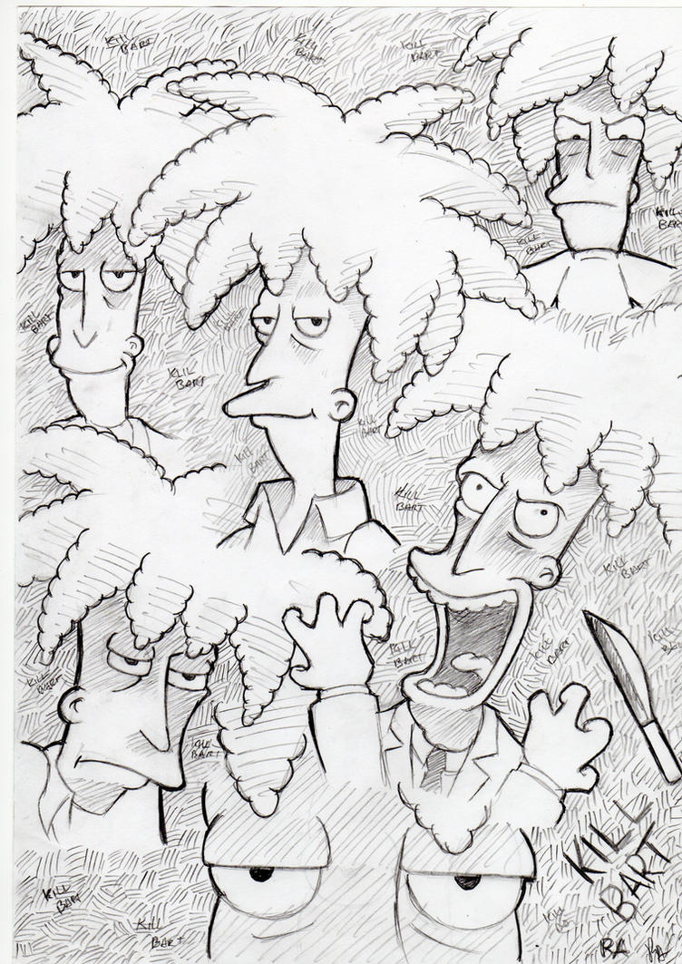 Sideshow Bob Sketchs by Robie-Chan