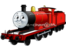 James the red engine  by Robie-Chan