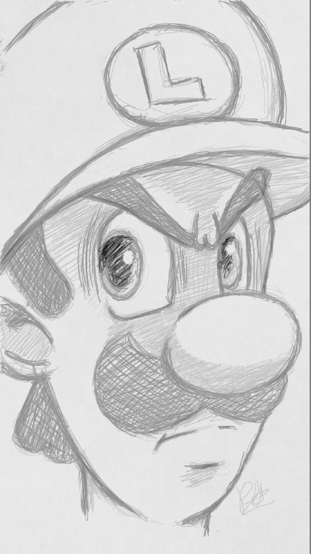 Luigi's Death Stare by Robie-Chan