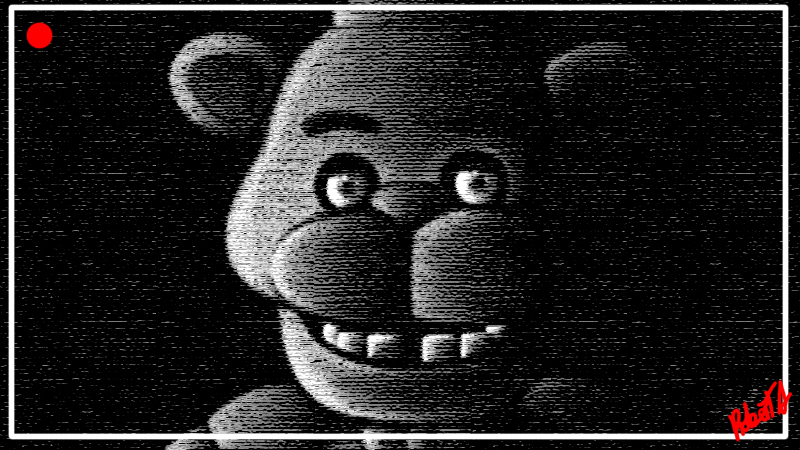 Freddy Fazbear is watching by Robie-Chan