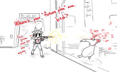 Touhou doodle (15) by Hidemaru-kyu