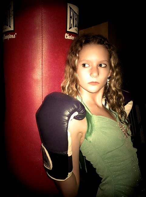 Boxing Gloves and Pretty Dress