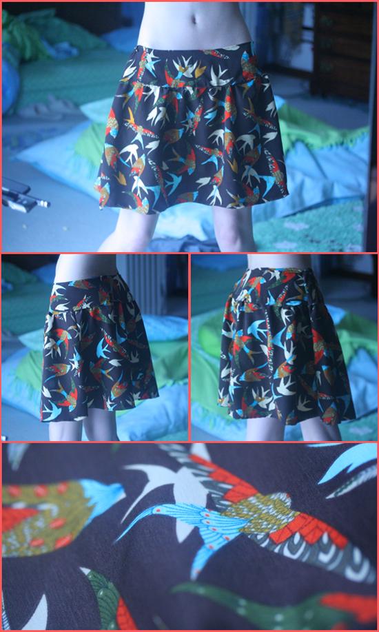 Vintage Bird Skirt