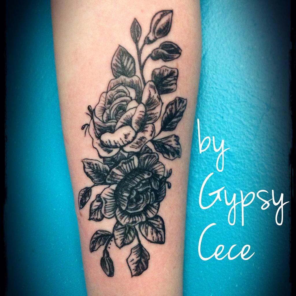 Vintage Victorian Roses Tattoo by GypsyCece on DeviantArt  Victorian Flower Tattoo