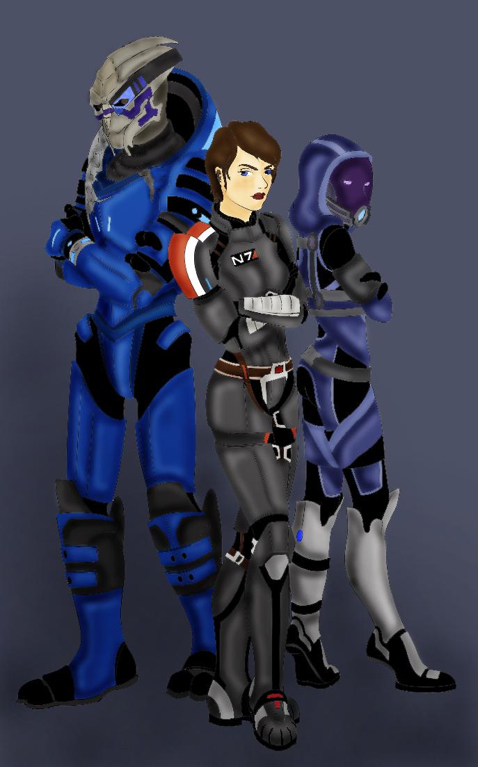 Shepard, Garrus and Tali by Herbie91