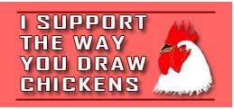Chicken Support Stamp by surlana