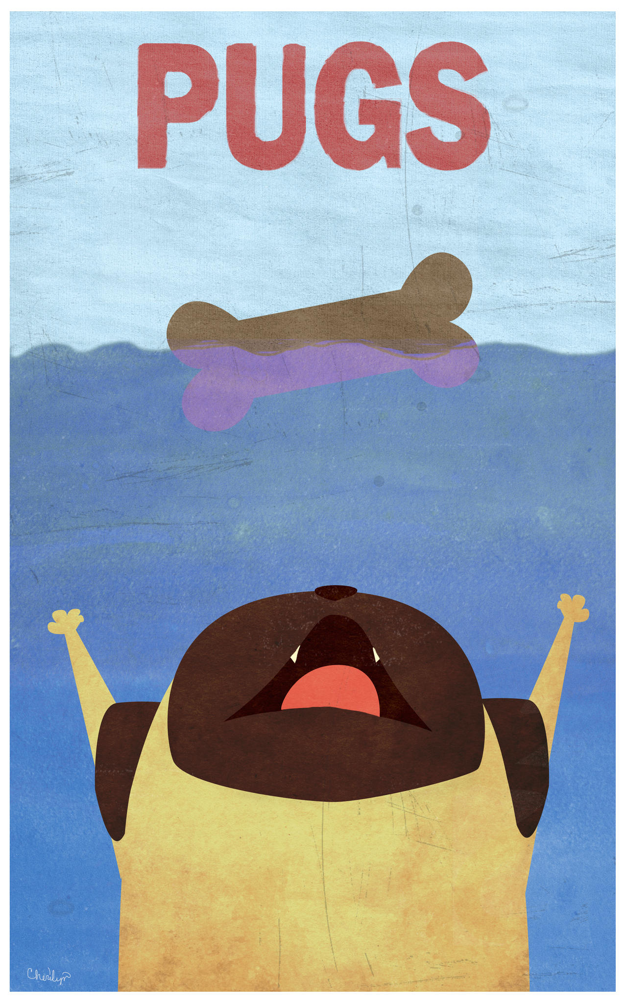 Pug Movie Poster by surlana