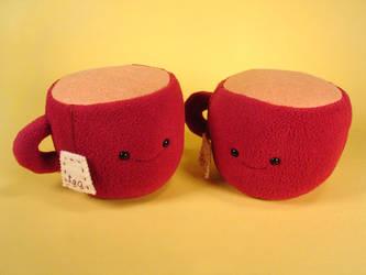 red tea cups
