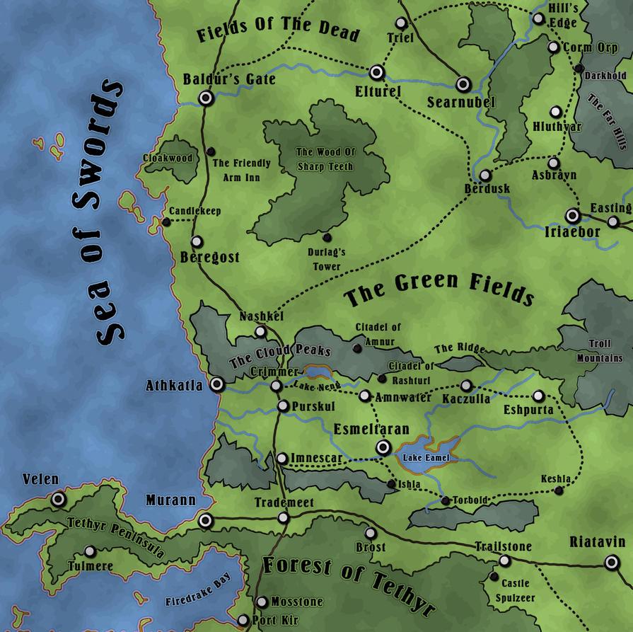 faerun sword coast map