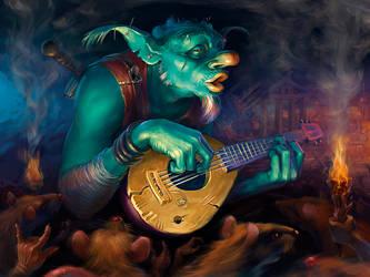 Goblin - bard by Igor-Grechanyi