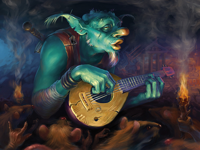 goblin bard by igor grechanyi on deviantart