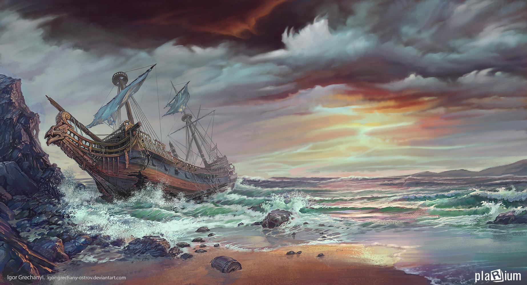 Shipwreck by Igor-Grechany-Ostrov