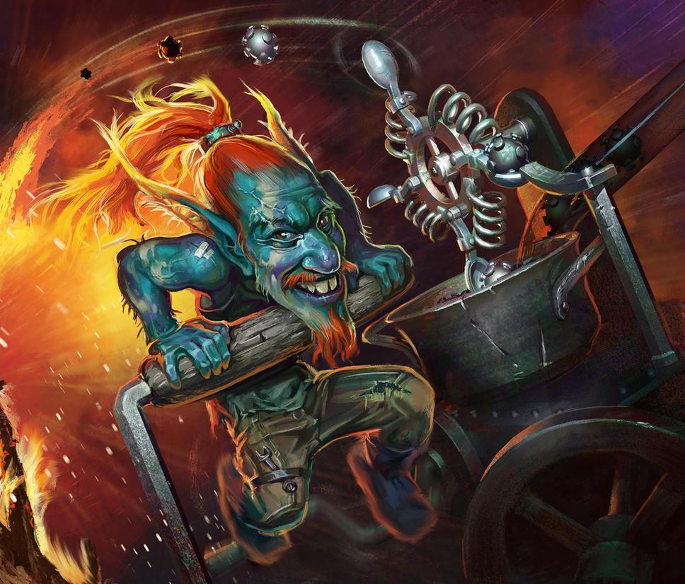 Goblins vs. Gnomes. Catapult. by Igor-Grechanyi