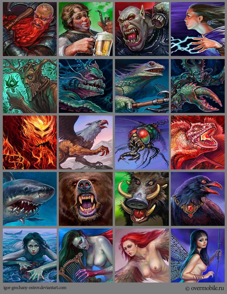 Portraits of fantasy characters. by Igor-Grechanyi